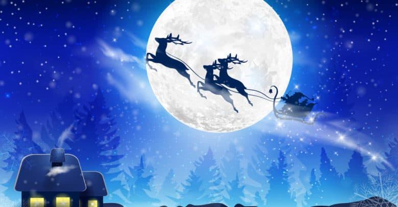 Julemandens slæde og rensdyr