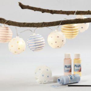 hjemmelavet julegave med lyskæde