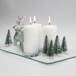hjemmelavet julepynt - dekoration m lys