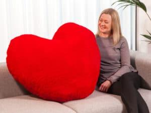 Kæmpe hjertepude