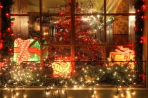 Julelys til vinduet