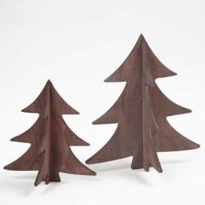 Små træjuletræer